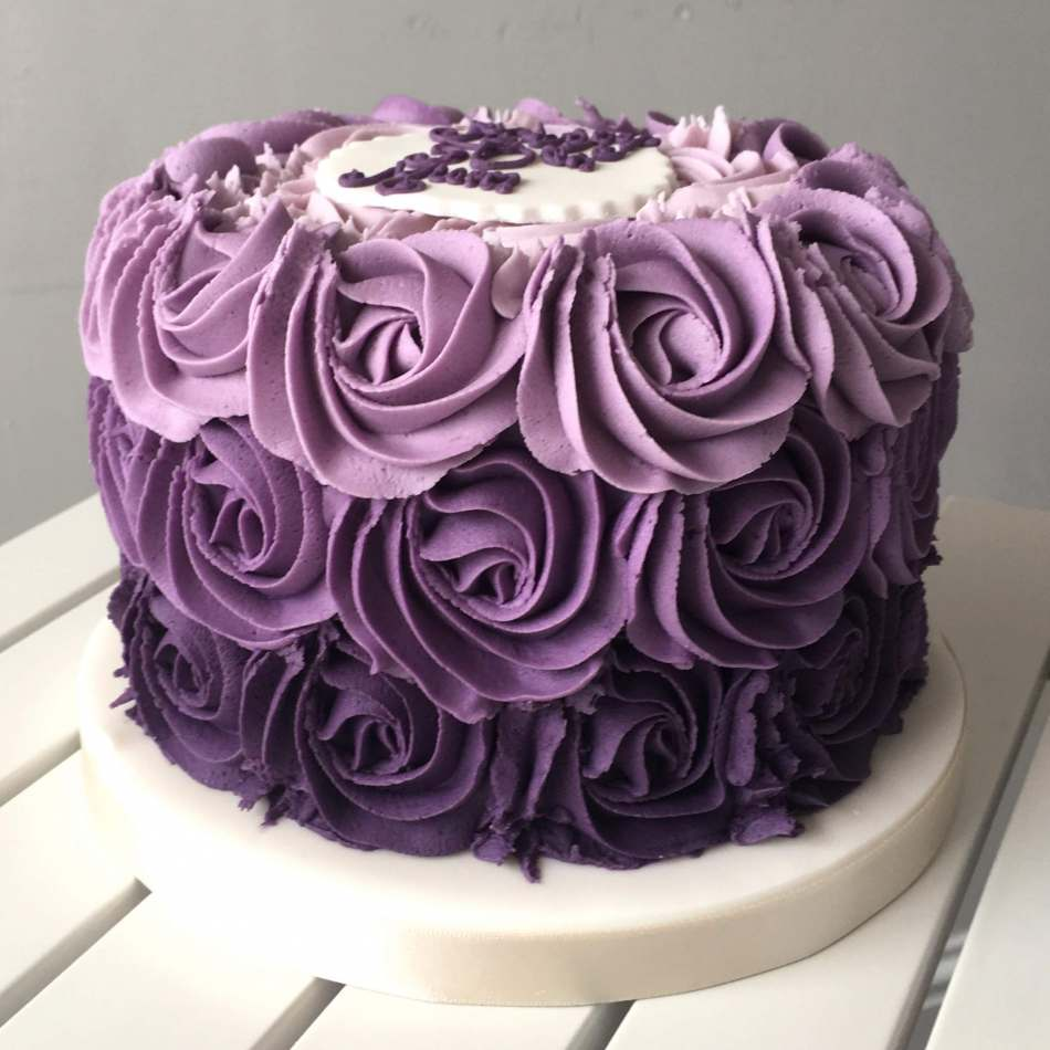 Miraculous Purple Rosette Layer Cake Layer Cakes Birthday Cards Printable Opercafe Filternl