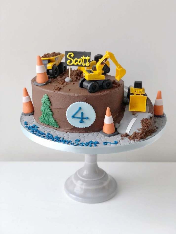 Pleasing Digger Buttercream Cake Funny Birthday Cards Online Necthendildamsfinfo