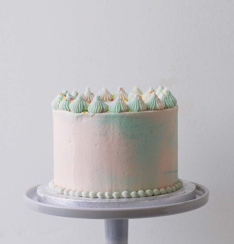 Magnificent Pastel Marbled Layer Cake Funny Birthday Cards Online Elaedamsfinfo