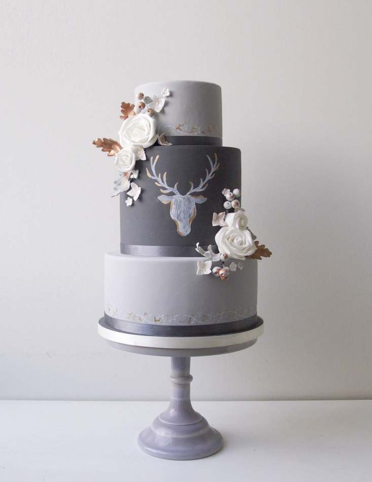 wedding cake companies copper stag wedding cake 22222
