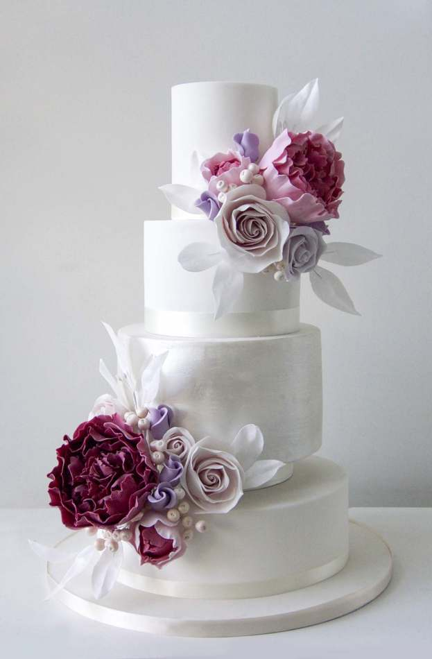 Wild Peony Wedding Cake Wedding Cake