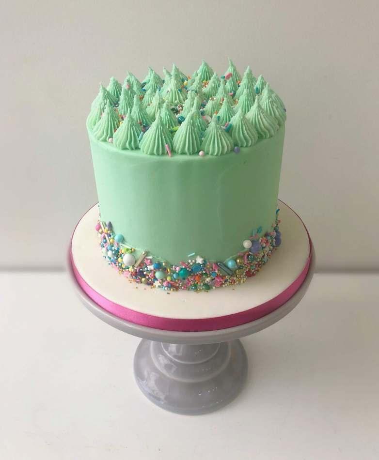 Excellent Aqua Spinkles Layer Cake Celebration Cakes Personalised Birthday Cards Epsylily Jamesorg