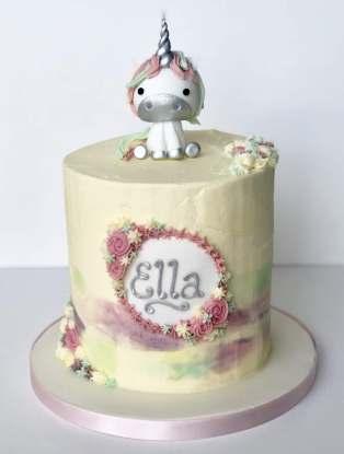 Sugar Unicorn Buttercream Cake