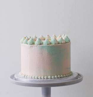 Pastel Marbled Layer Cake