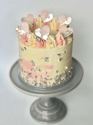 Blush Hearts Layer Cake