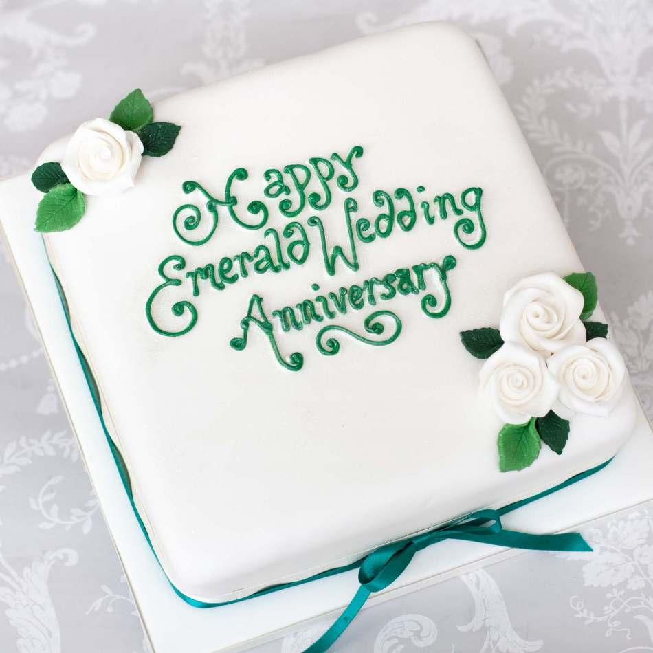 Anniversary Cakes|Emerald Wedding|Edinburgh|Glasgow