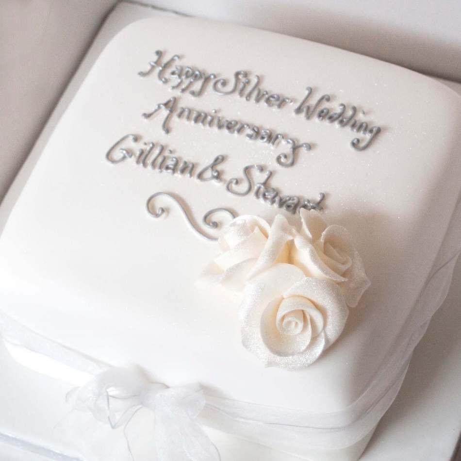 Silver Wedding Anniversary Cake Edinburgh Glasgow