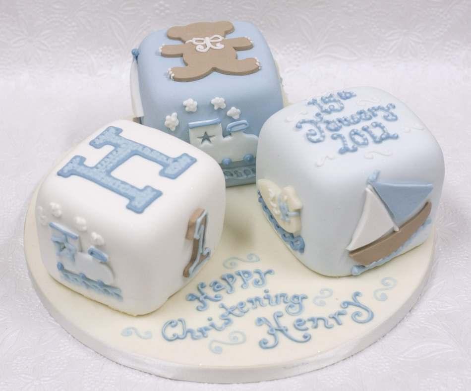 baby boy building blocks celebration cake