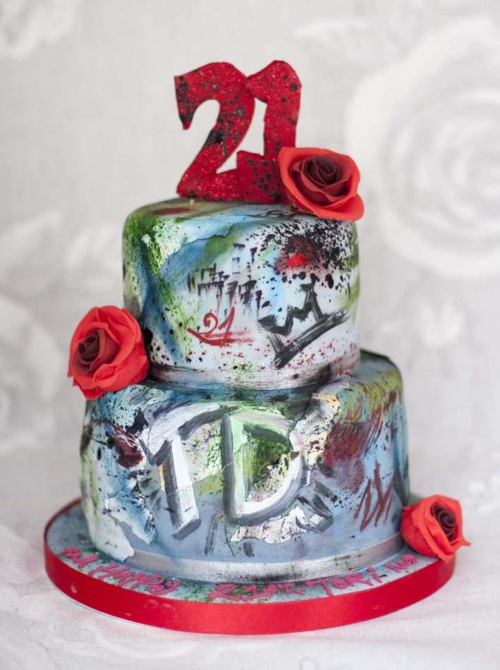 Tiered Graffiti Cake