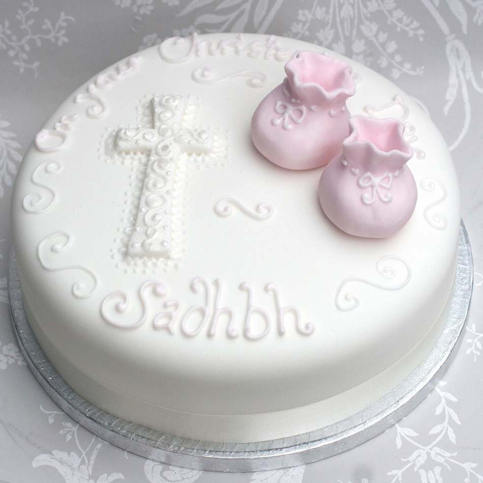Girls Christening Cake|Baptism Cake|Edinburgh|Glasgow