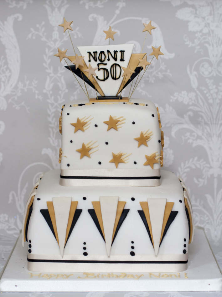 Art Deco Birthday Cake : Personalised Birthday Cakes 18th Birthday Cakes ...