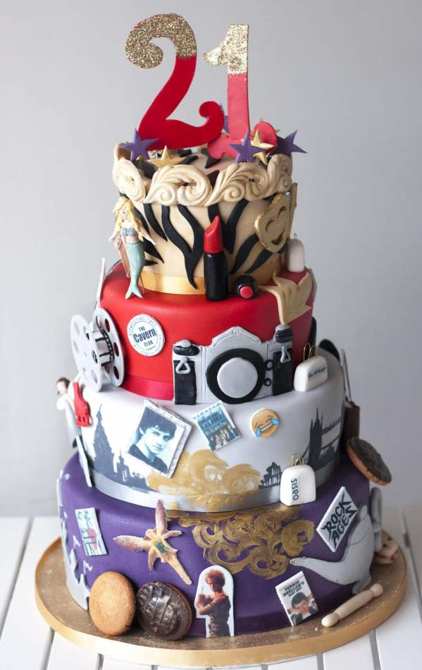 Film Music Photography Themed 21st Chaos Cake