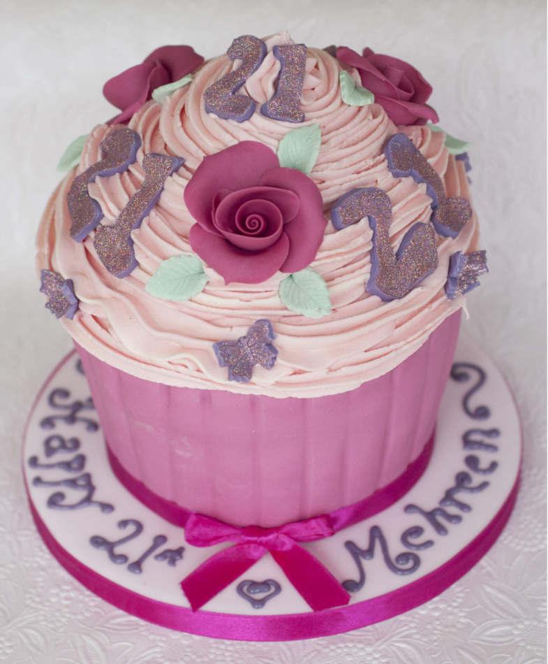 Birthday Girl Giant Cupcake