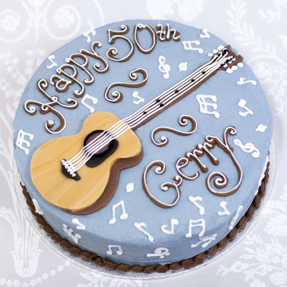 Guitar Buttercream Cake Birthday Cakes