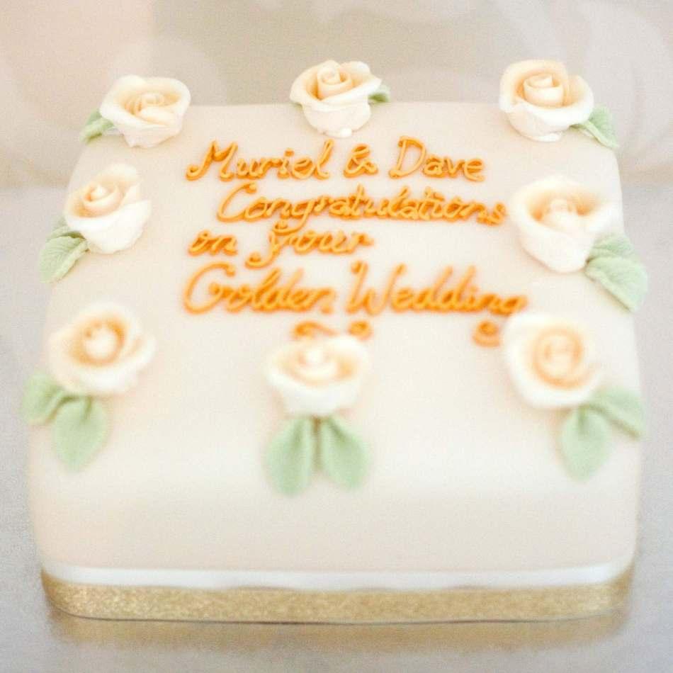 Golden Wedding Anniversary Cake | celebration cakes