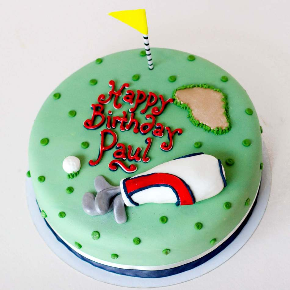 Golf CakeSports CakeMens Birthday CakeEdinburghGlasgow