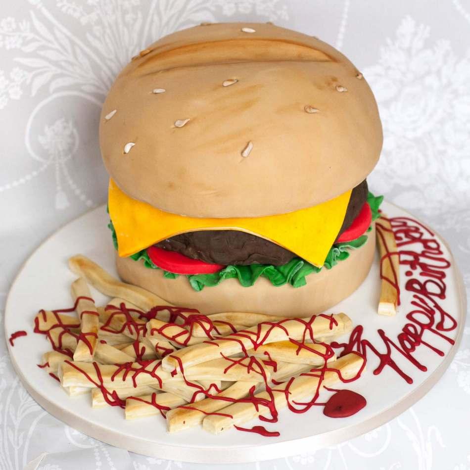 Hamburger cake | celebration cakes