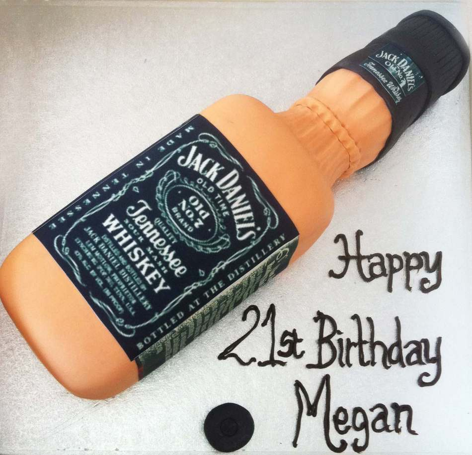 Jack Daniels Birthday Cake Topper