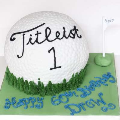 Pleasant Golf Ball Cake Birthday Cakes Personalised Birthday Cards Arneslily Jamesorg