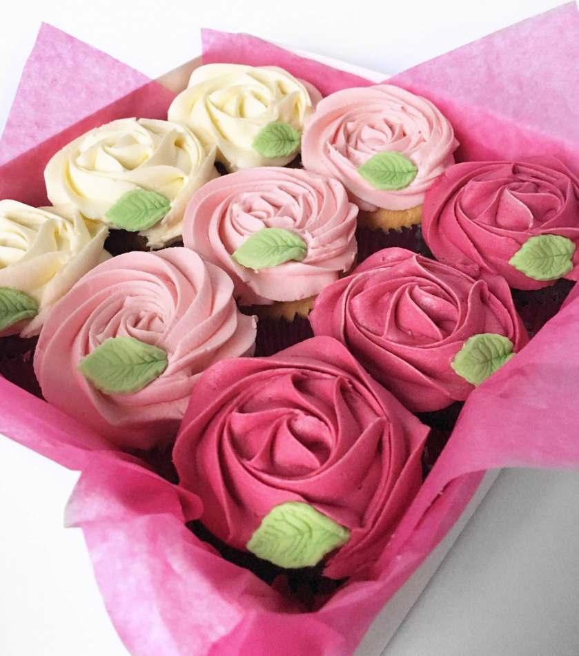 Romantic Rosette Cupcakes Valentines Cupcakes