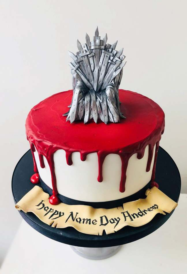 Fantastic Game Of Thrones Cake Celebration Cakes Personalised Birthday Cards Cominlily Jamesorg