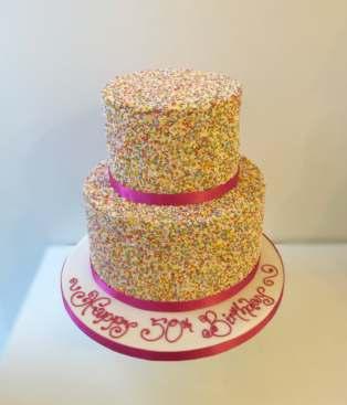 Hundreds Thousands Birthday Cake