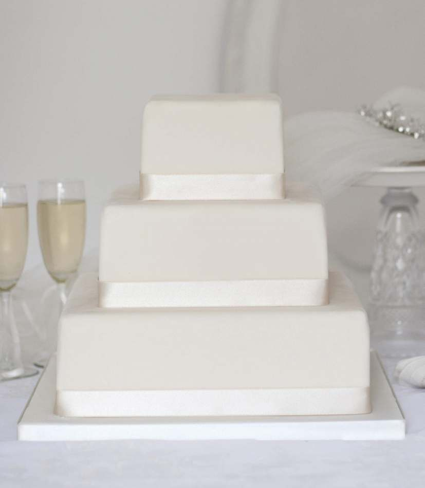 Wedding cakes to buy online edinburgh glasgow across scotland square wedding cake junglespirit Gallery