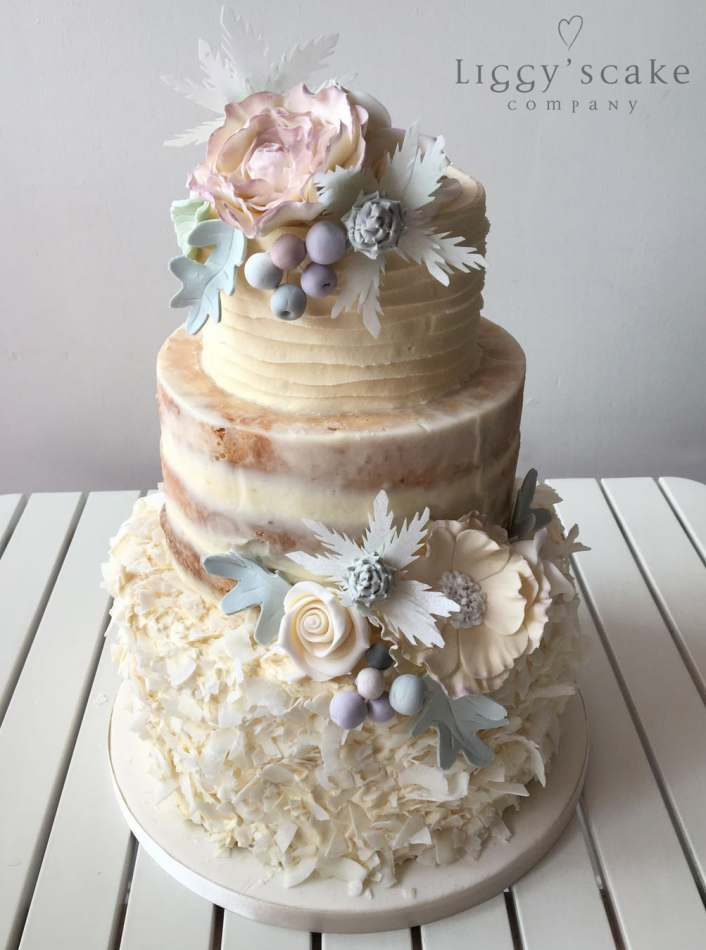 Dusty Miller Neapolitan Wedding Cakes