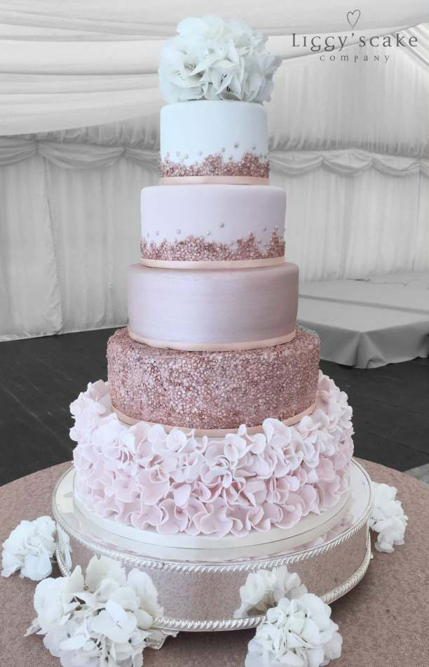 Rose Gold Carlowrie Cake Wedding Cakes