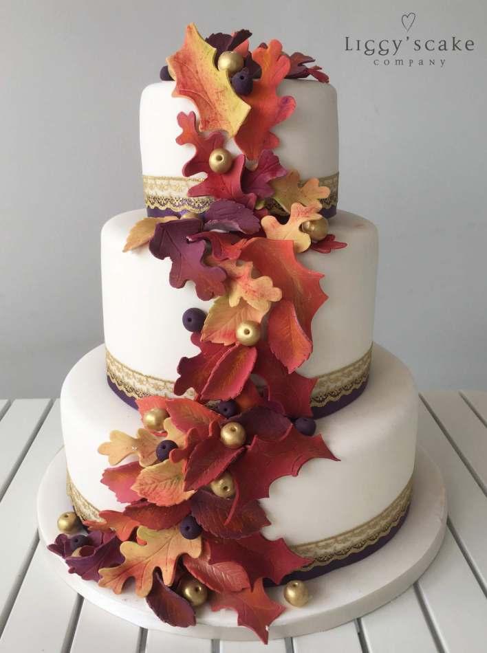 Autumnal Cascade Wedding Cakes