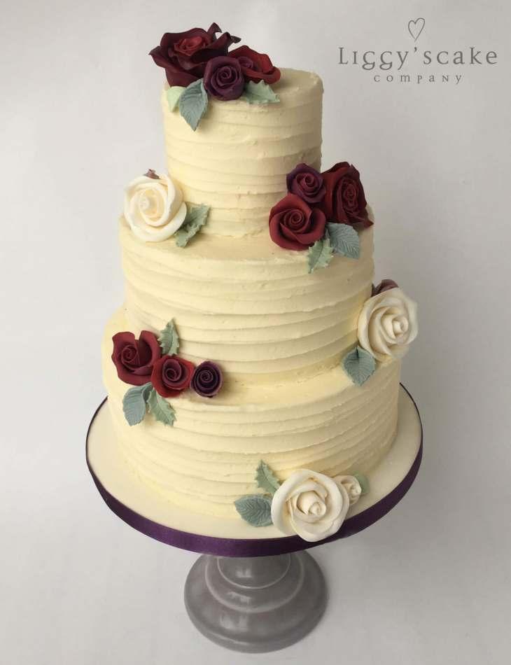 Marsala Rose Buttercream | Wedding Cakes