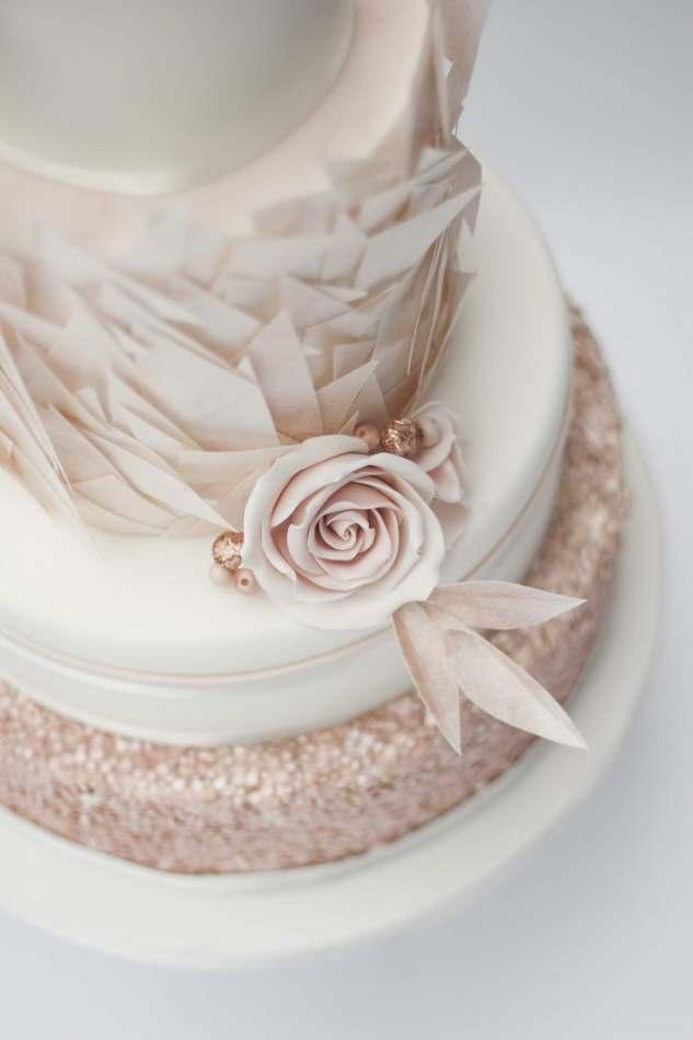 Austin Rose Gold Wedding Cakes