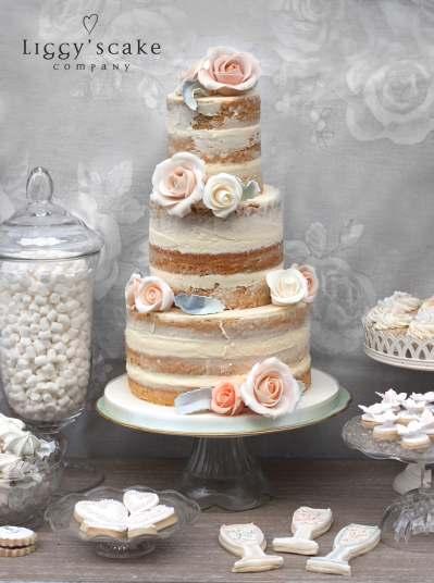 Naked Cake Uniced Wedding Cake Scotland
