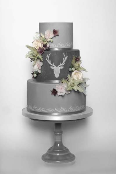 Stag Chalk Board Wedding Cake Wedding Cake