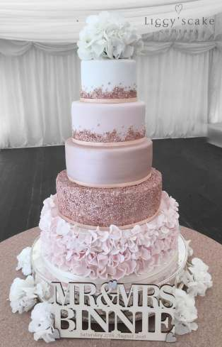 rose gold and cream wedding cake shop wedding cakes 19267